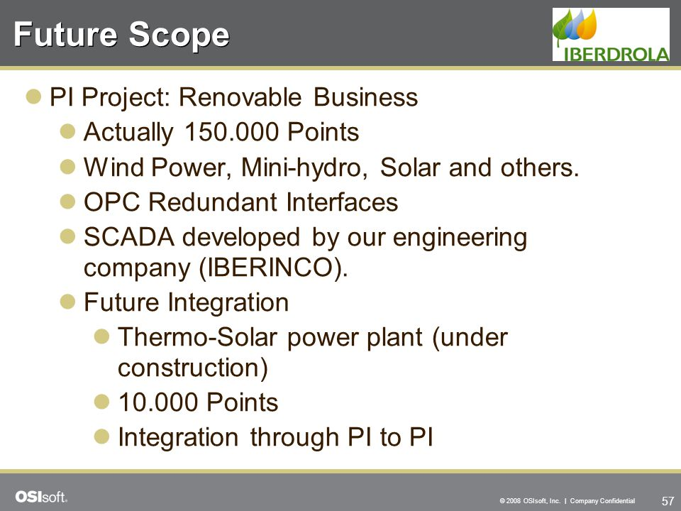 Future Scope PI Project: Renovable Business Actually 150.000 Points