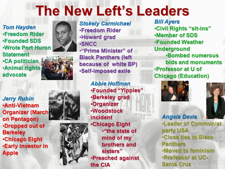 The New Left's Leaders Bill Ayers Stokely Carmichael