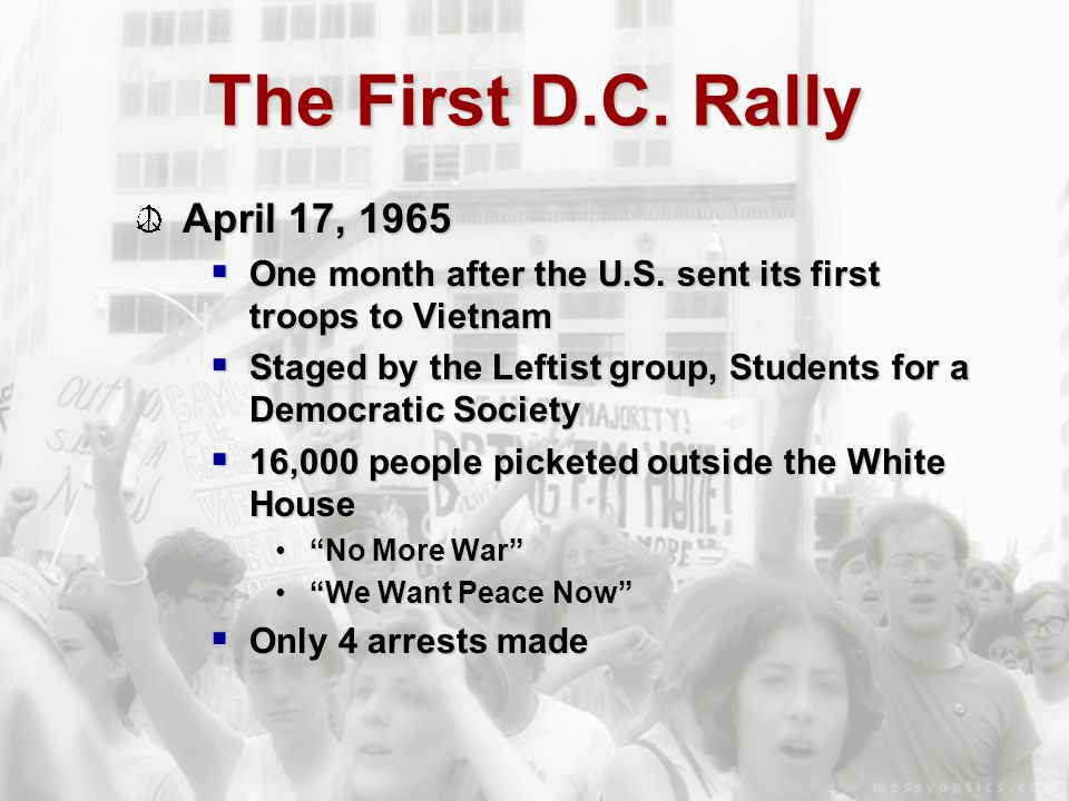 The First D.C. Rally April 17, 1965