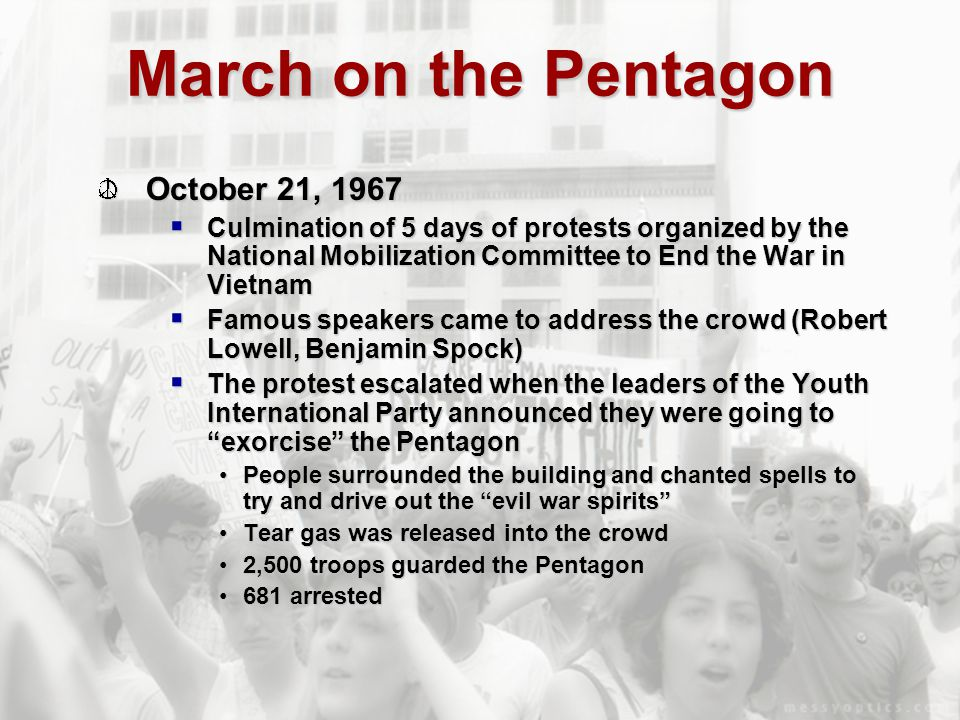 March on the Pentagon October 21, 1967