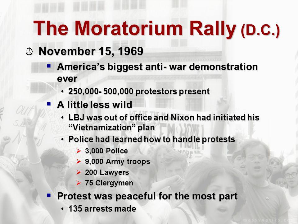 The Moratorium Rally (D.C.)