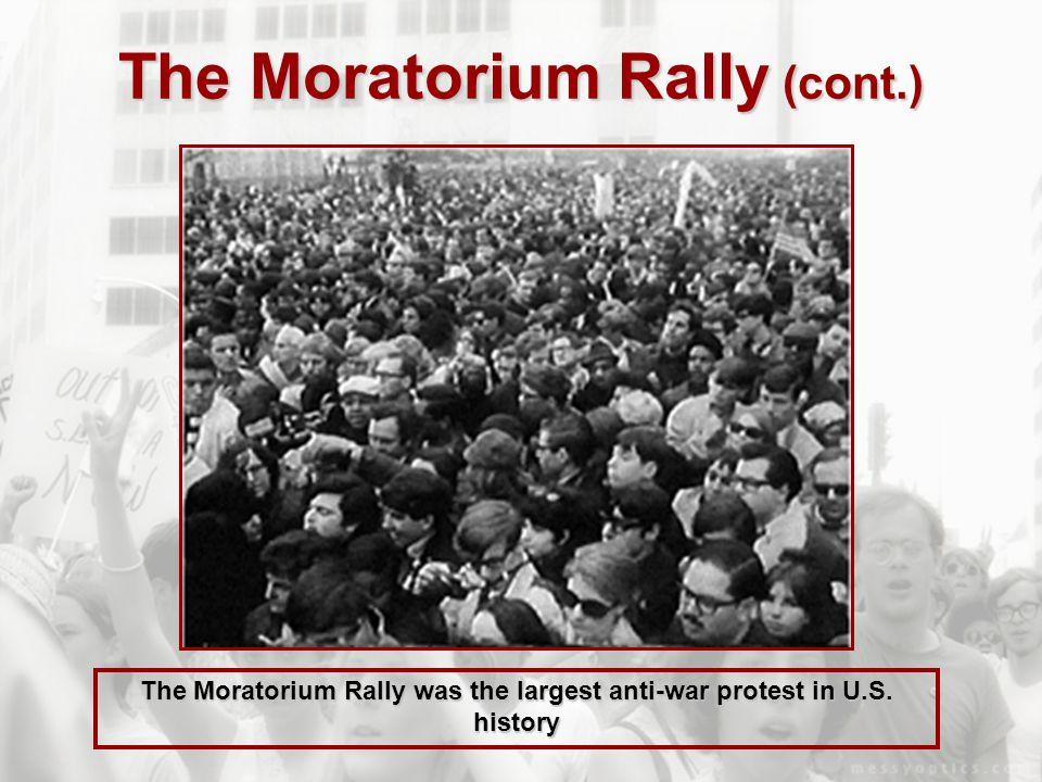 The Moratorium Rally (cont.)