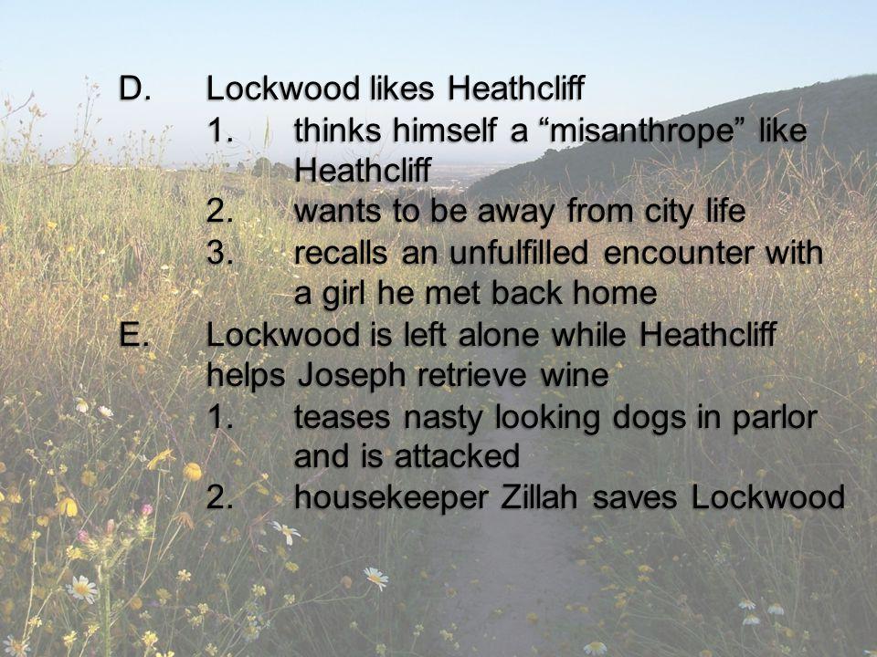 D. Lockwood likes Heathcliff