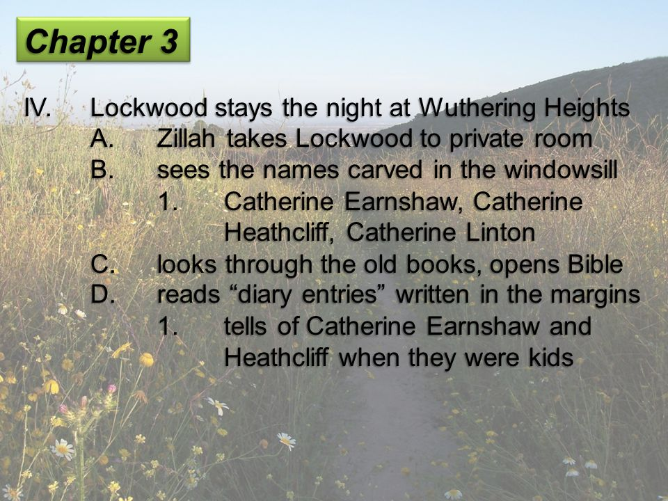 Chapter 3 IV. Lockwood stays the night at Wuthering Heights