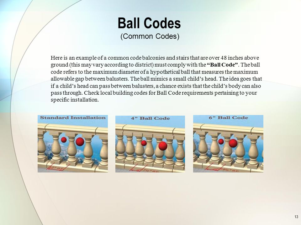 Ball Codes (Common Codes)