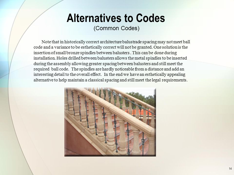 Alternatives to Codes (Common Codes)