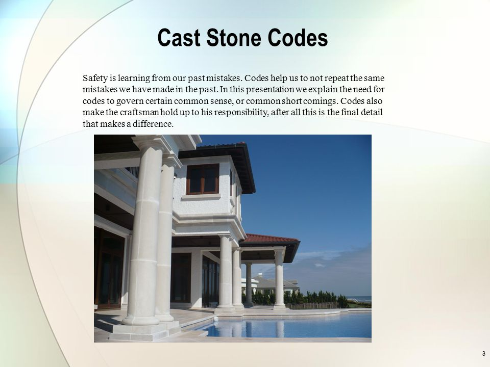 Cast Stone Codes