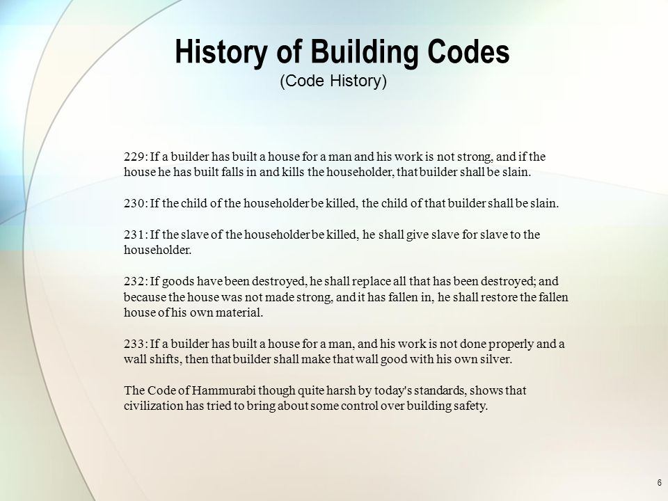 History of Building Codes