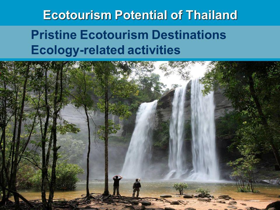 Ecotourism Potential of Thailand