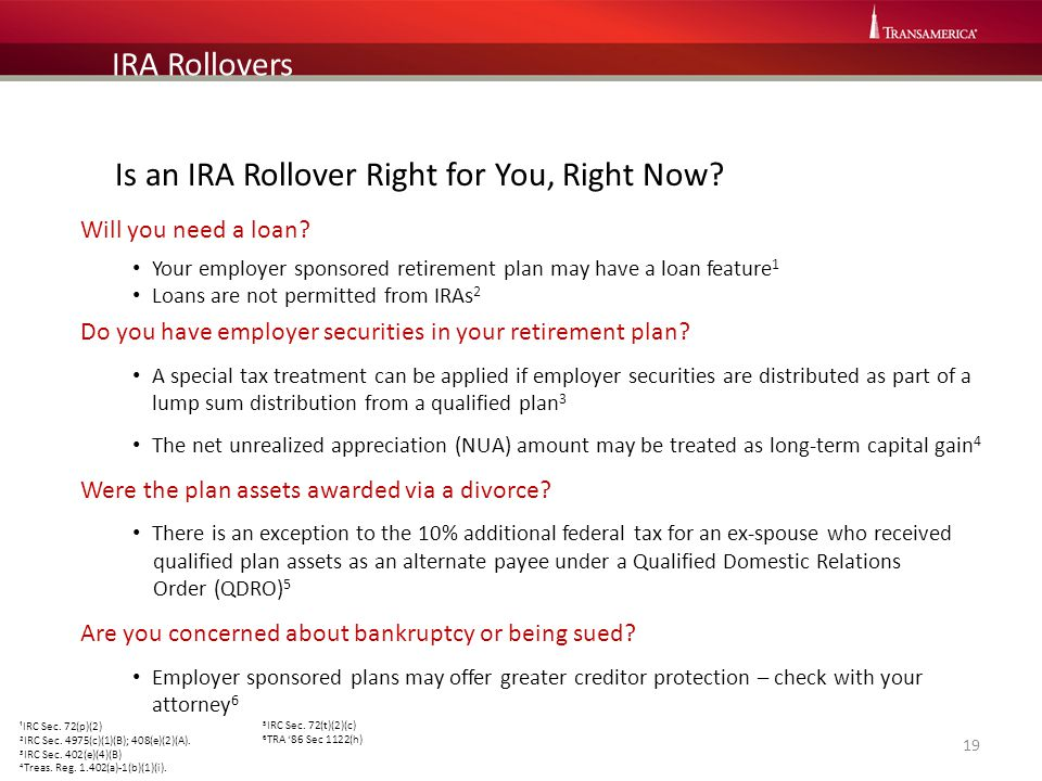 Is an IRA Rollover Right for You, Right Now