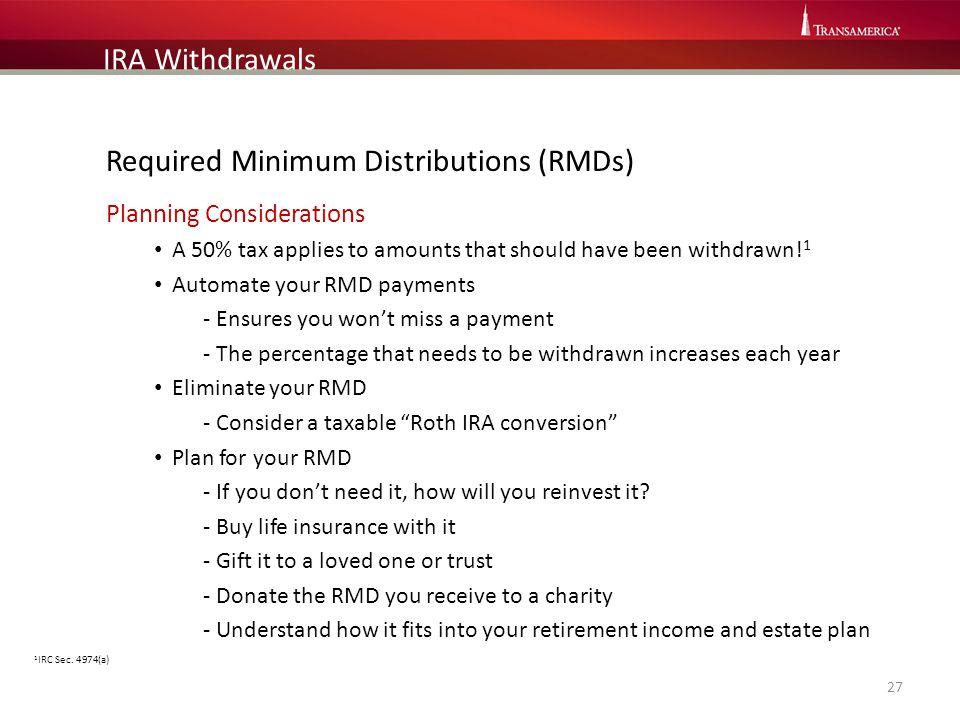 Required Minimum Distributions (RMDs)