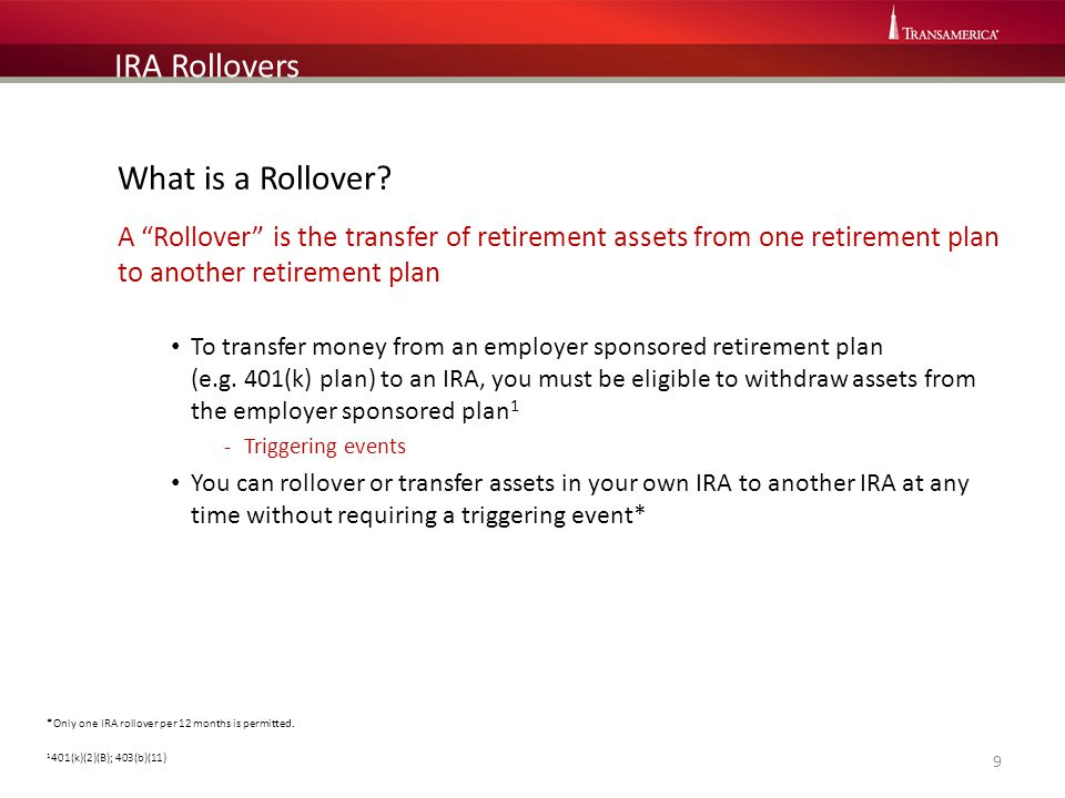 IRA Rollovers What is a Rollover
