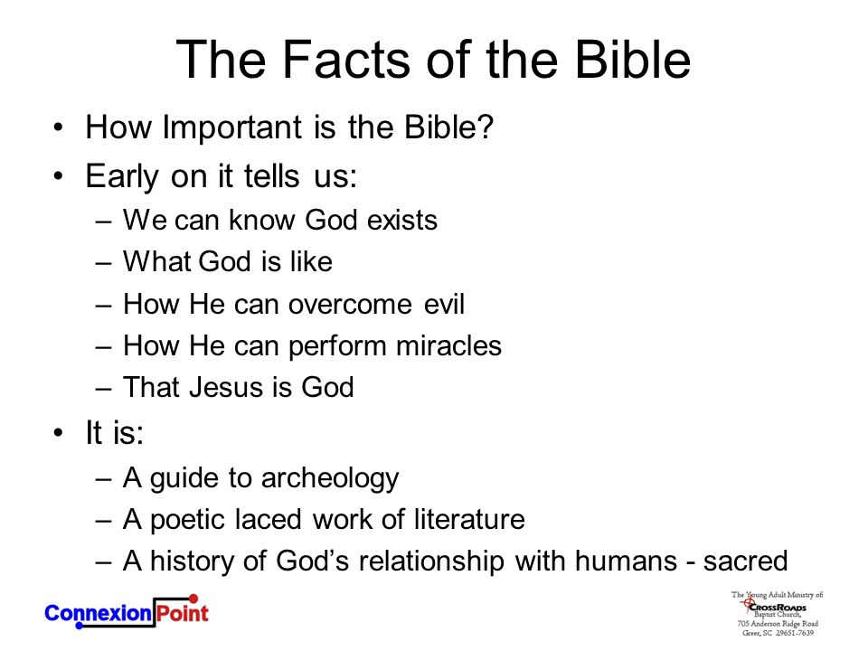 The Facts of the Bible How Important is the Bible