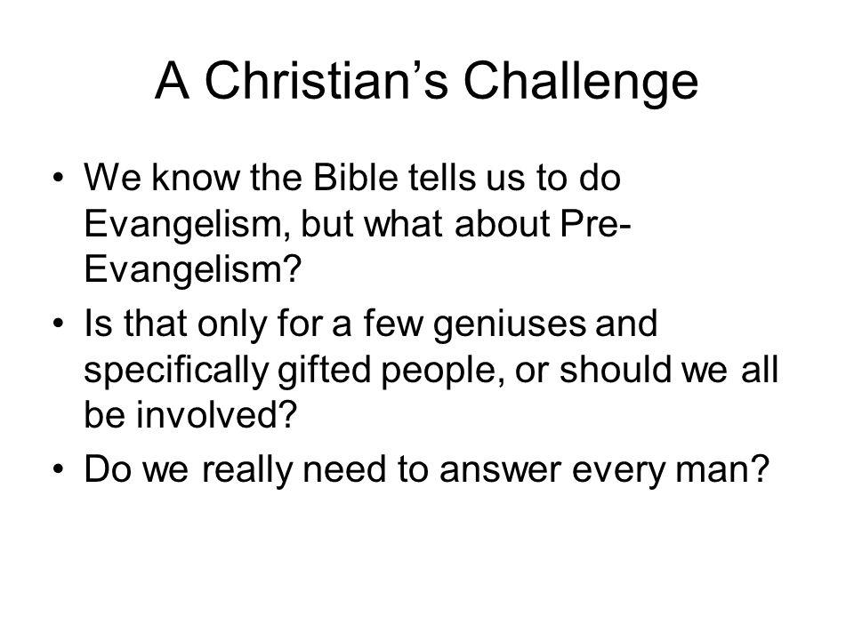 A Christian's Challenge