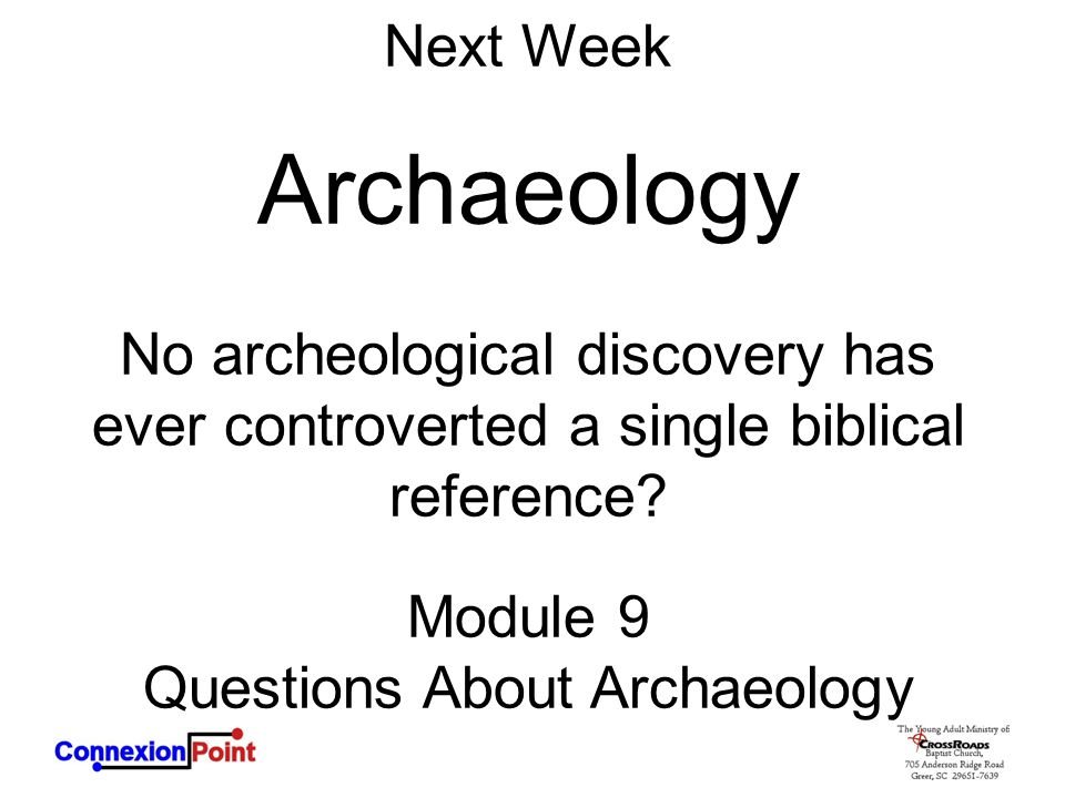 Questions About Archaeology