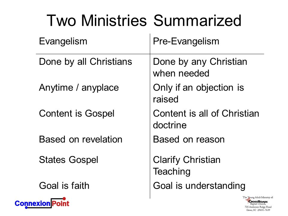 Two Ministries Summarized