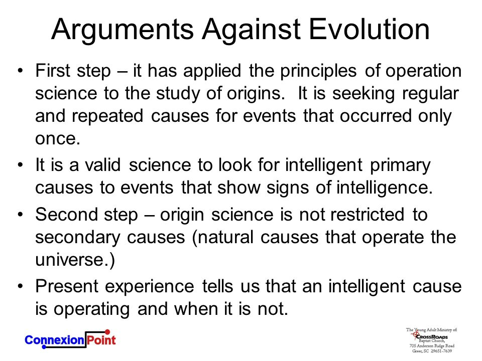 Arguments Against Evolution