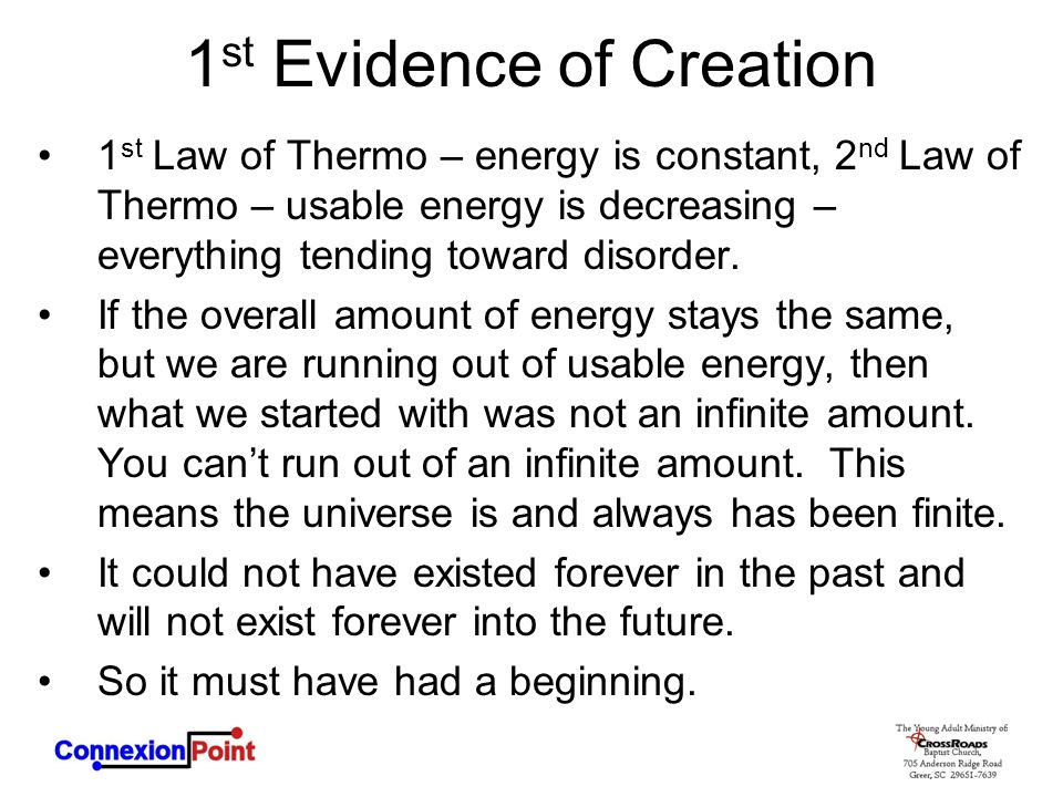 1st Evidence of Creation
