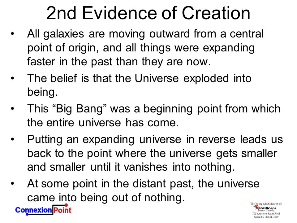 2nd Evidence of Creation