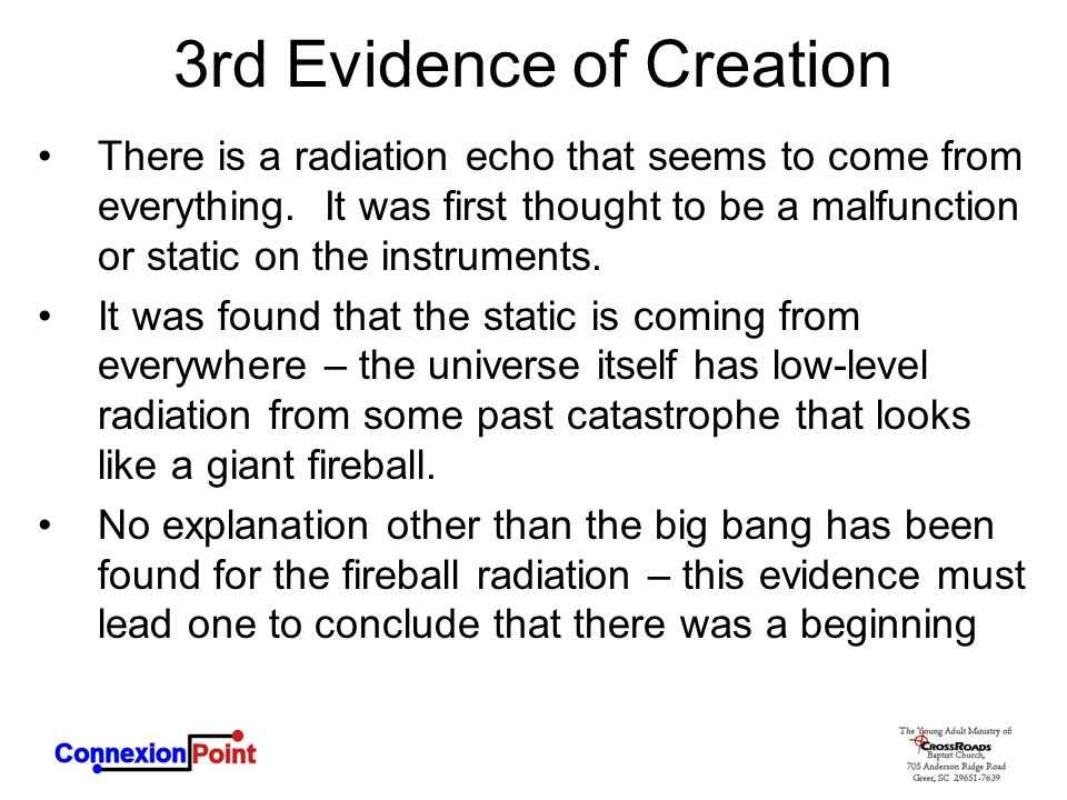3rd Evidence of Creation