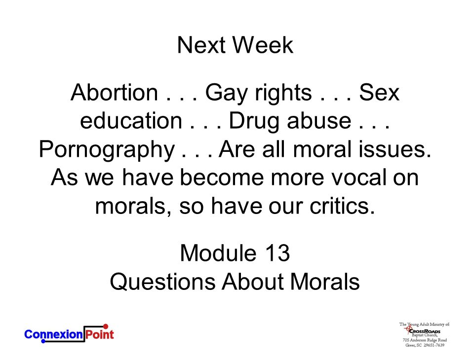 Questions About Morals