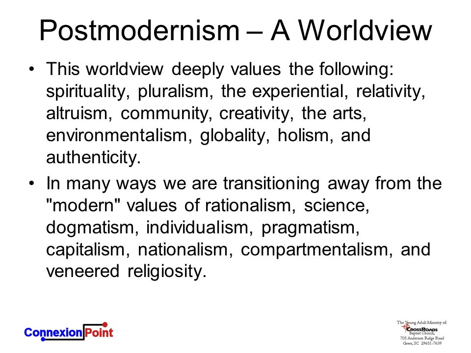 Postmodernism – A Worldview