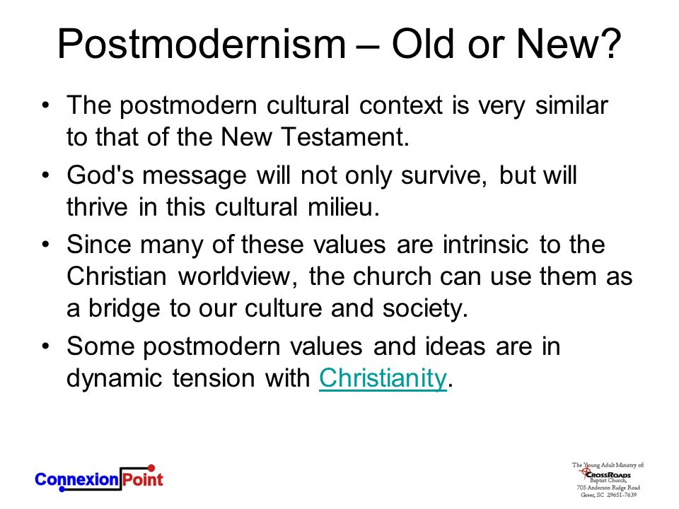 Postmodernism – Old or New