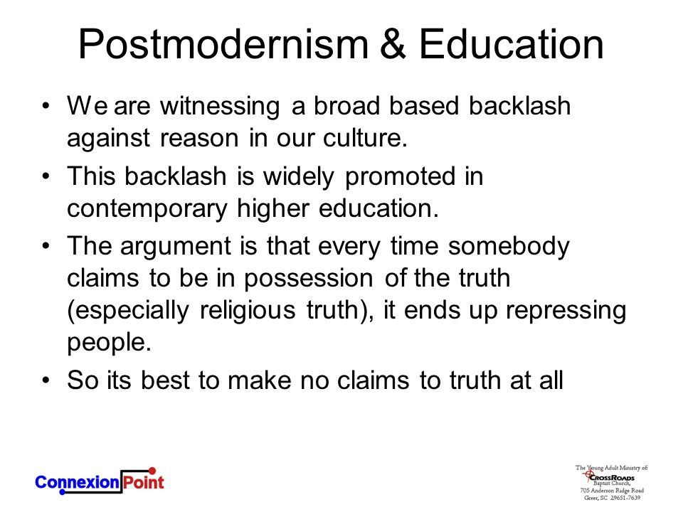 Postmodernism & Education