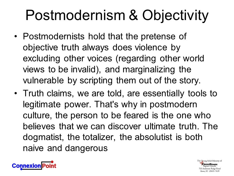 Postmodernism & Objectivity