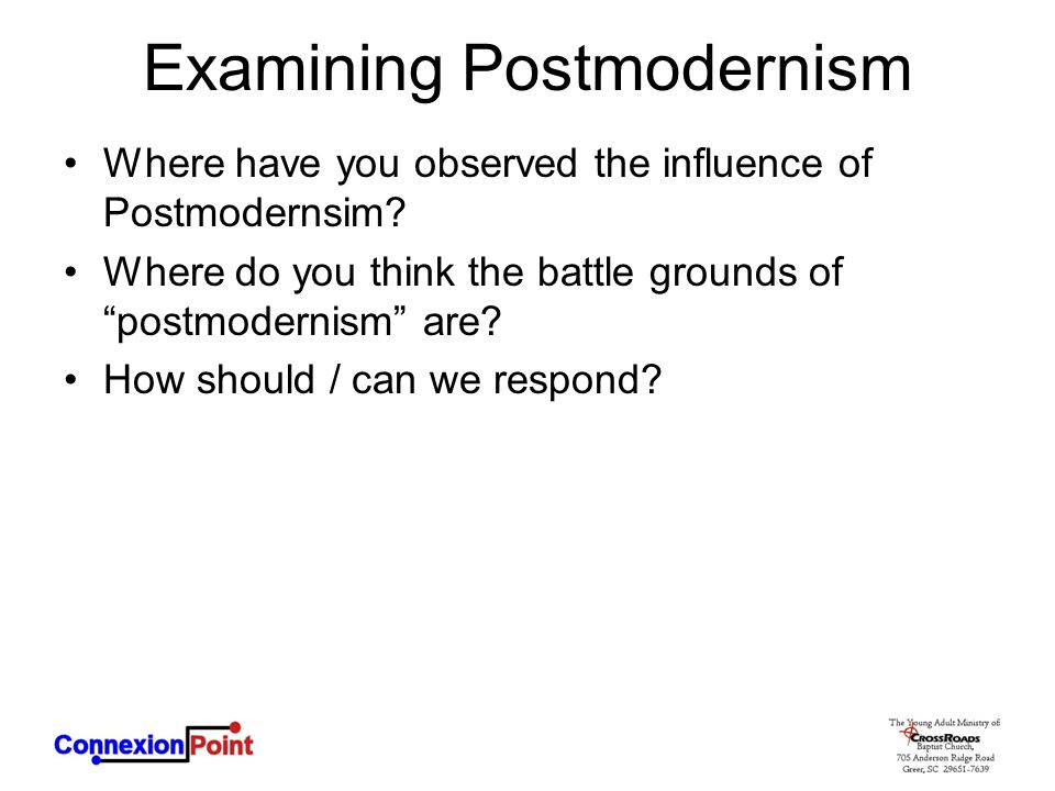 Examining Postmodernism
