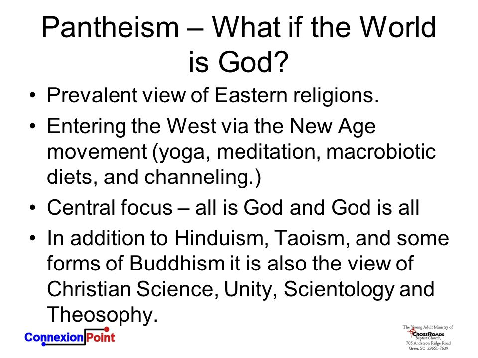 Pantheism – What if the World is God