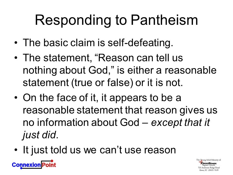 Responding to Pantheism