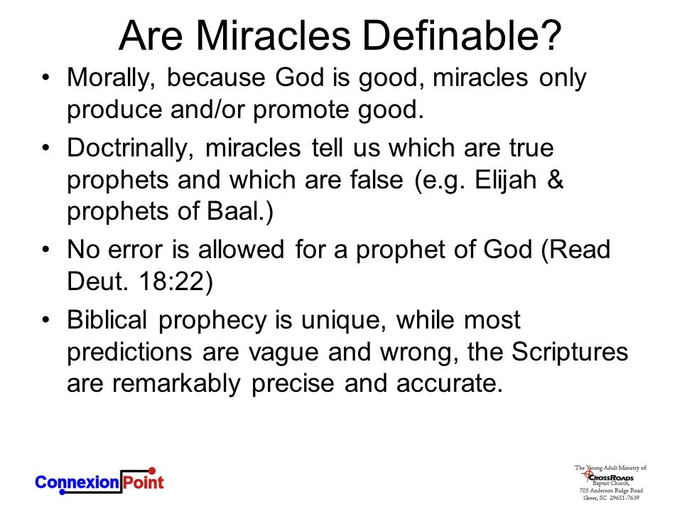 Are Miracles Definable