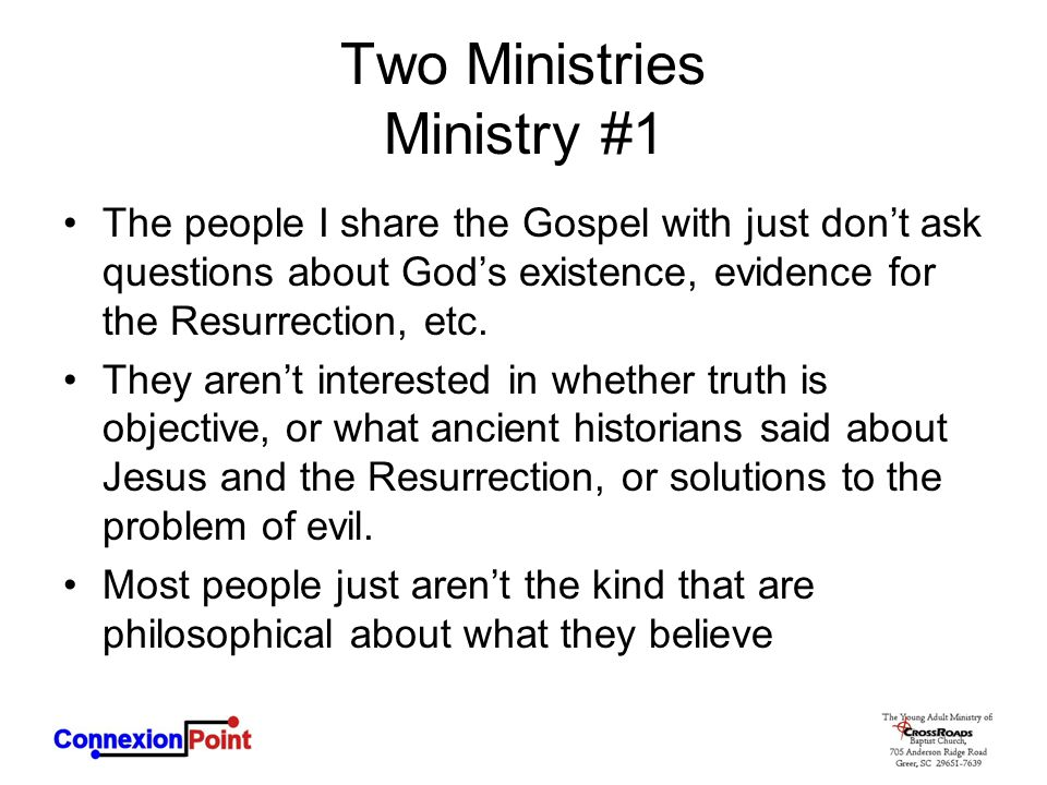 Two Ministries Ministry #1