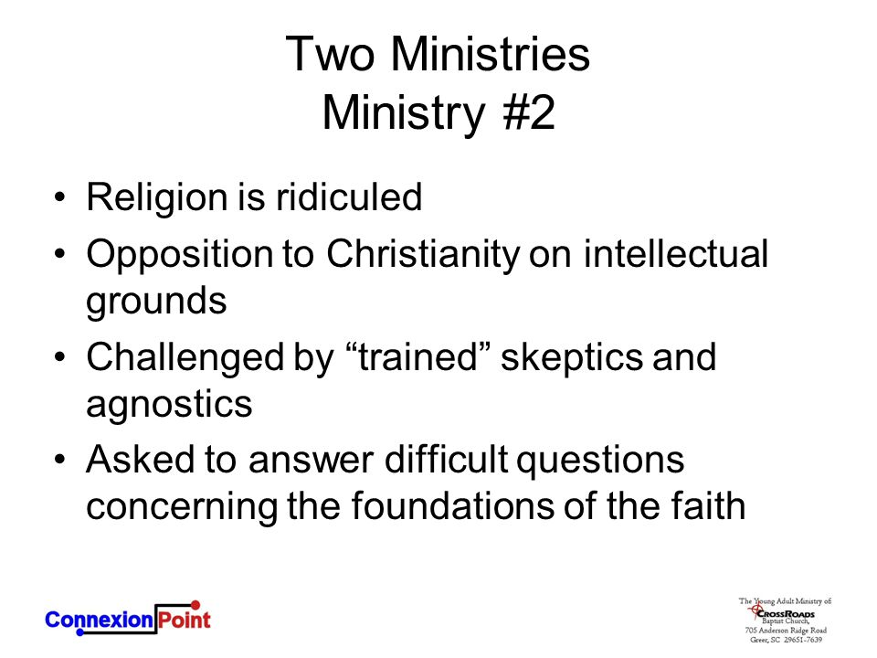 Two Ministries Ministry #2