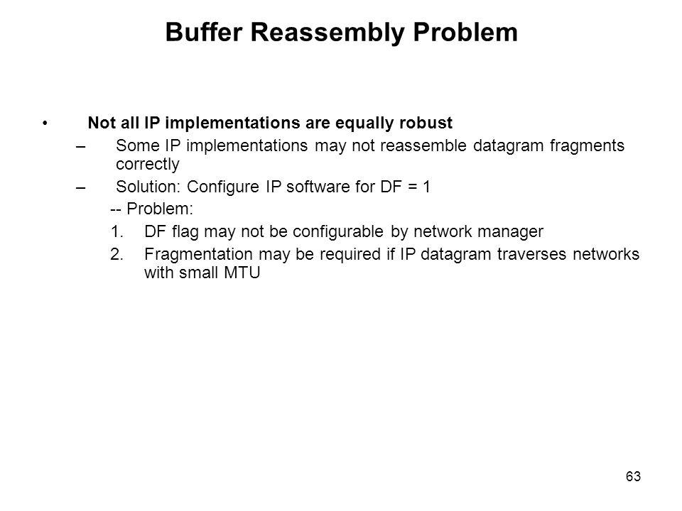 Buffer Reassembly Problem