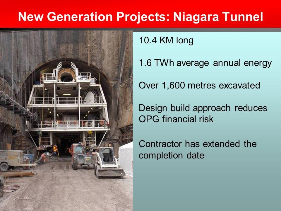 New Generation Projects: Niagara Tunnel