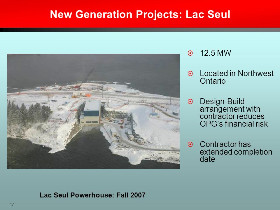 New Generation Projects: Lac Seul