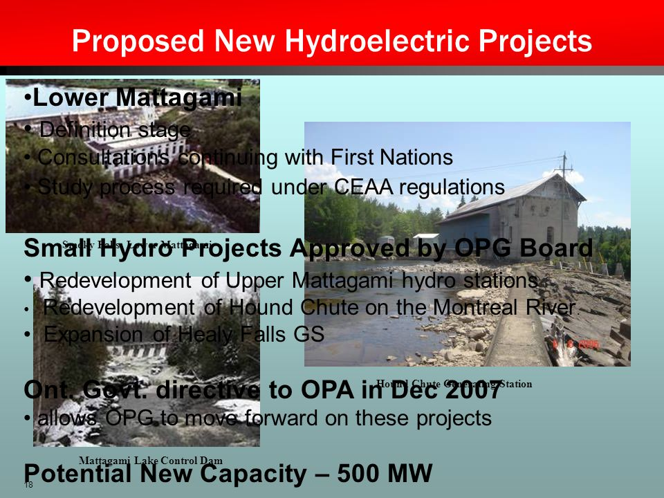 Proposed New Hydroelectric Projects