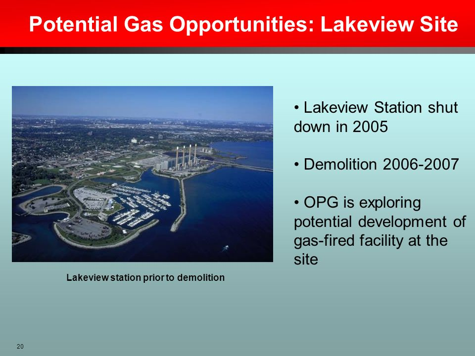 Potential Gas Opportunities: Lakeview Site