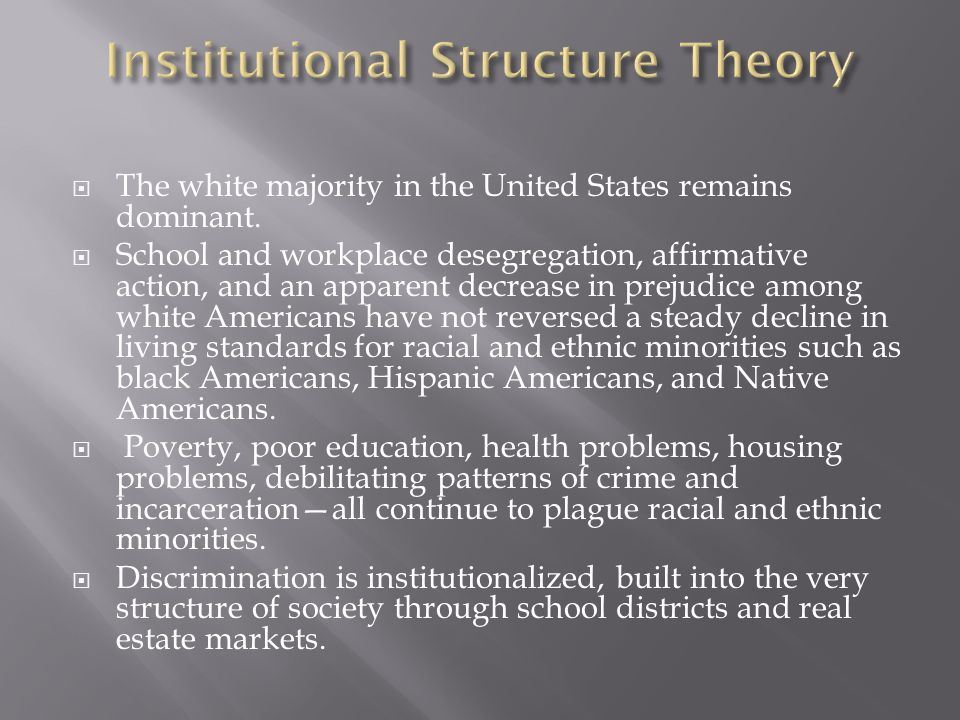 Institutional Structure Theory