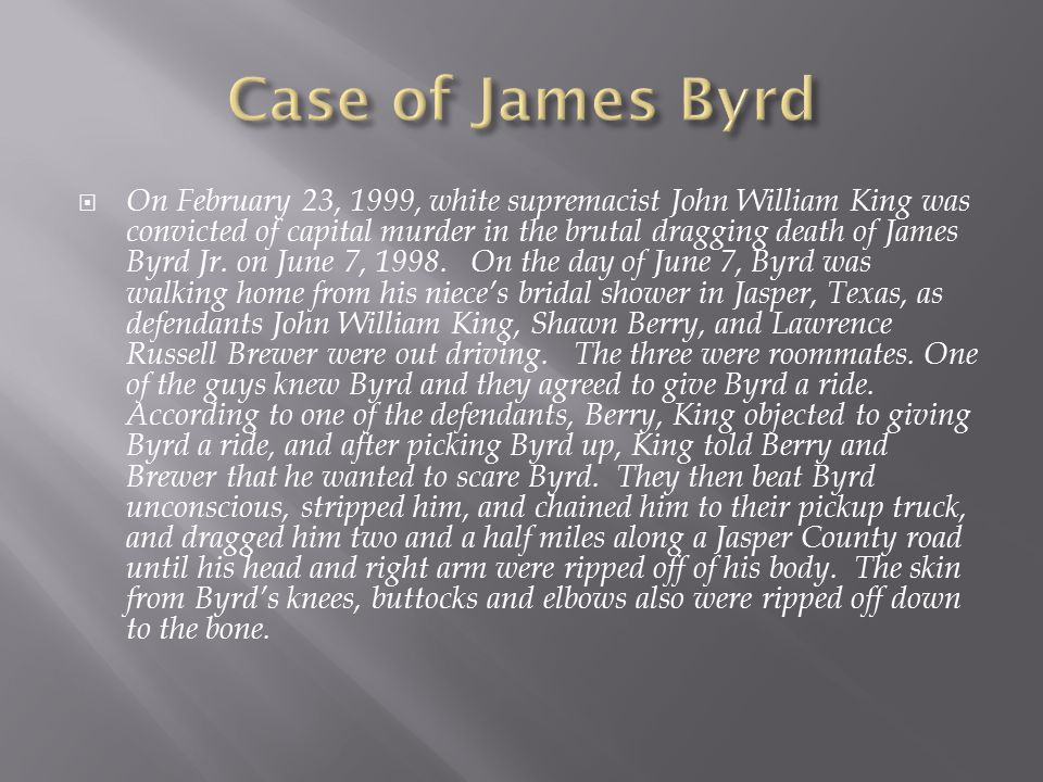 Case of James Byrd