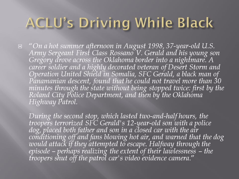 ACLU's Driving While Black