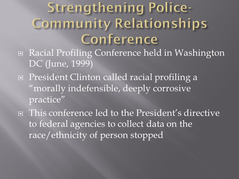 Strengthening Police-Community Relationships Conference