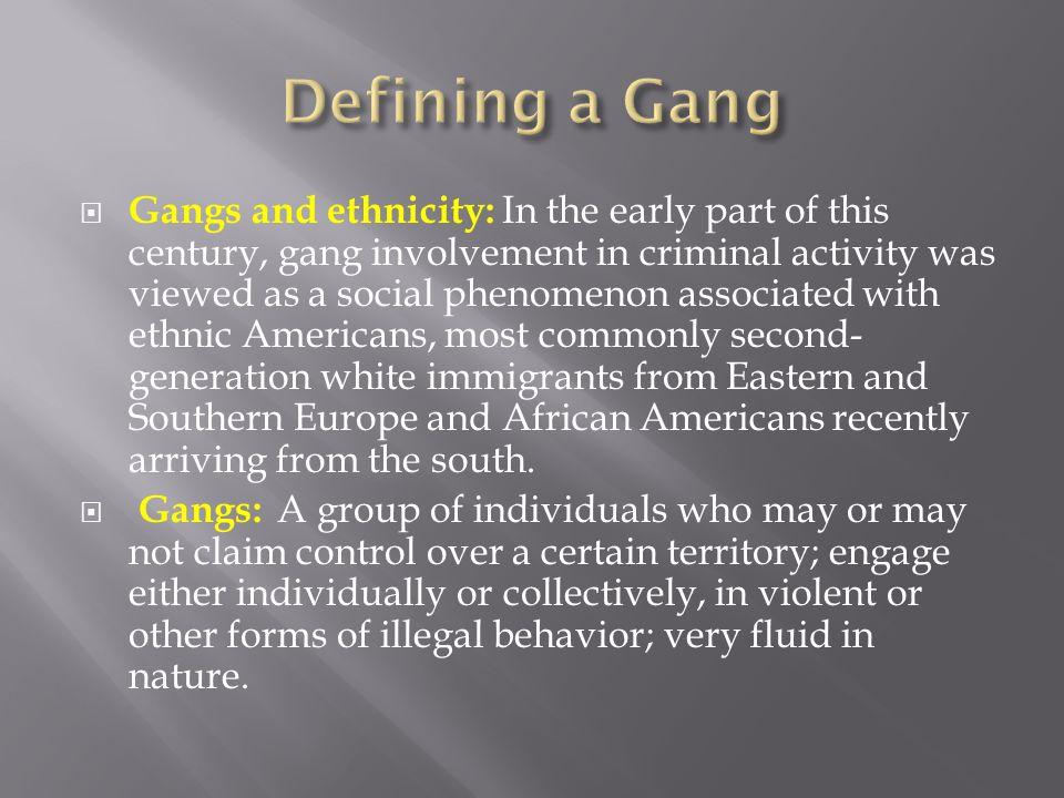 Defining a Gang