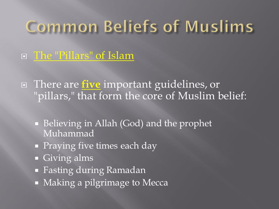 Common Beliefs of Muslims