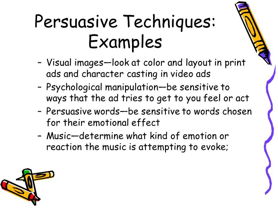 Persuasive Techniques: Examples