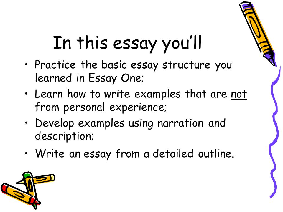 describe the structure of the essay On essay by example, on the other hand, the sample argumentative essay addresses online games and socialization: online games aren't just a diversion, but a unique way to meet other people as millions of gamers demonstrate, playing online is about friendship and cooperation, not just killing monsters.