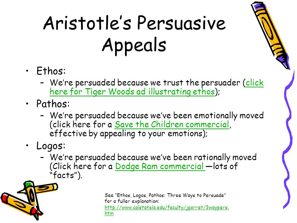 Aristotle's Persuasive Appeals