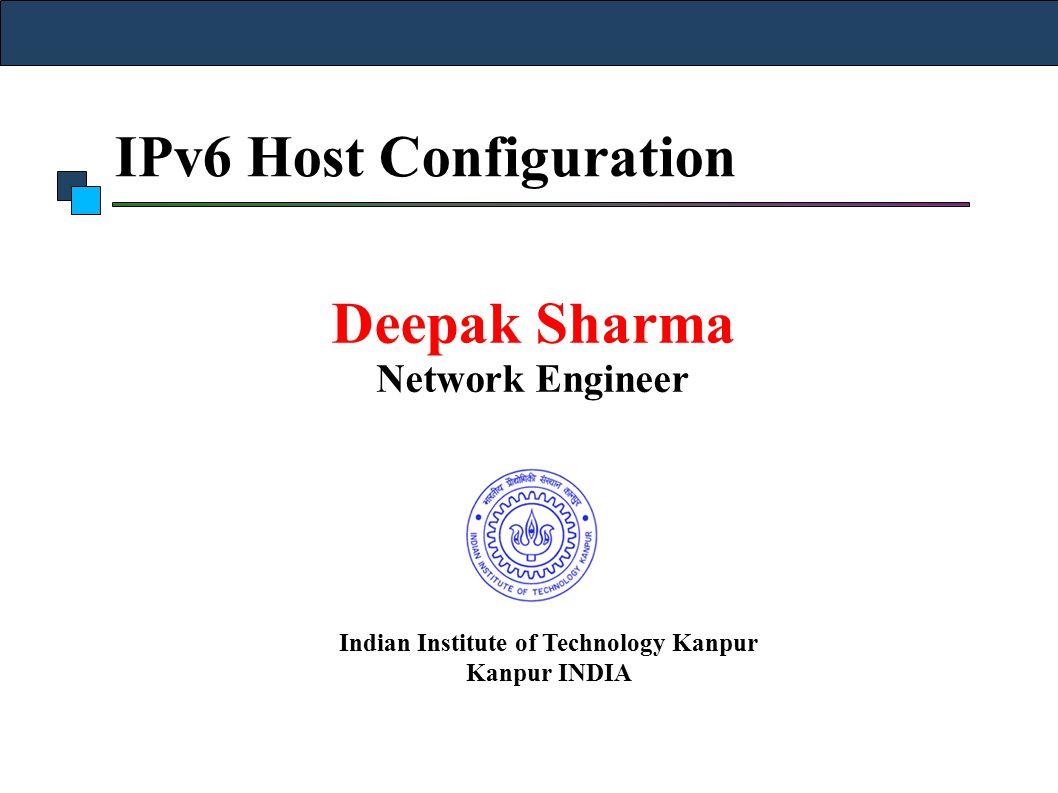 IPv6 Host Configuration